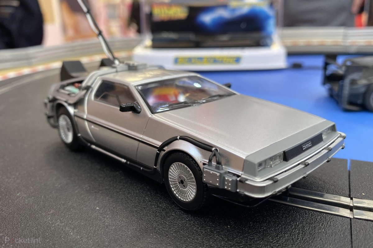 Scalextric DeLorean, Del Boy's Robin Reliant, and Bond's DB5 hopes to bring the fun back to slot-car racing
