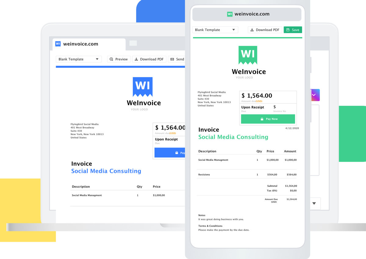 10 Best Invoice Generator Apps Free Invoice Templates Provided