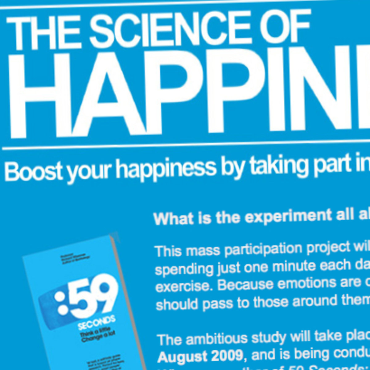 """59 Seconds Richard Wiseman online """"science of happiness"""" study launched - pocket-lint"""