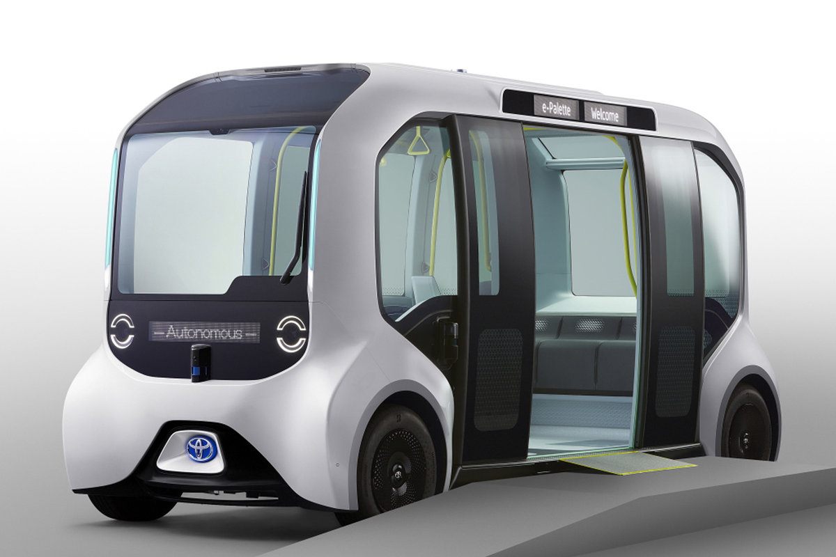 This autonomous Toyota bus will carry athletes during the 2020 Tokyo Olympics