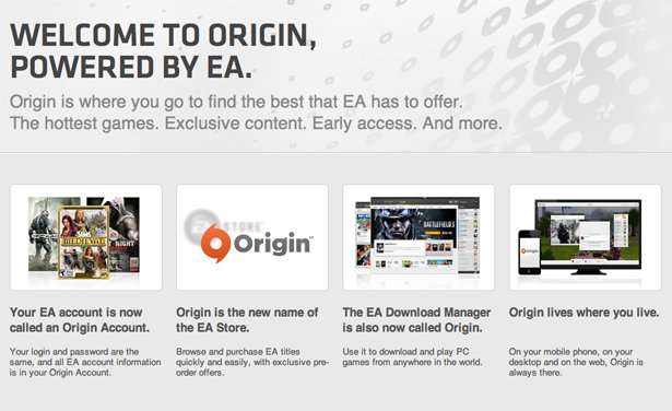 Origin Account Login