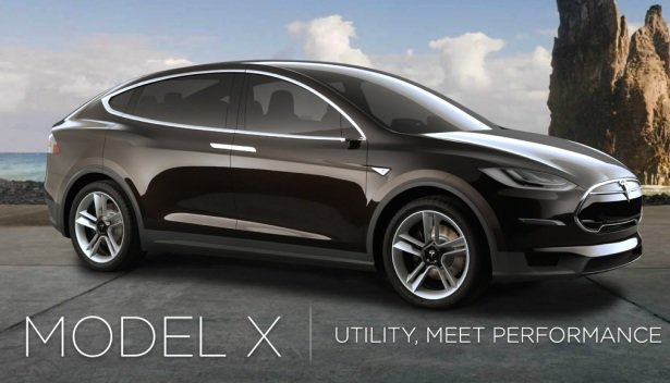Tesla Model X Suv Goes Back To The Future
