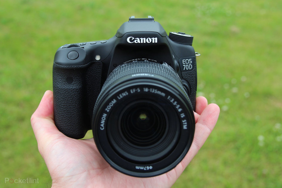 canon eos 70d on with a mid range dslr with a difference pocket lint