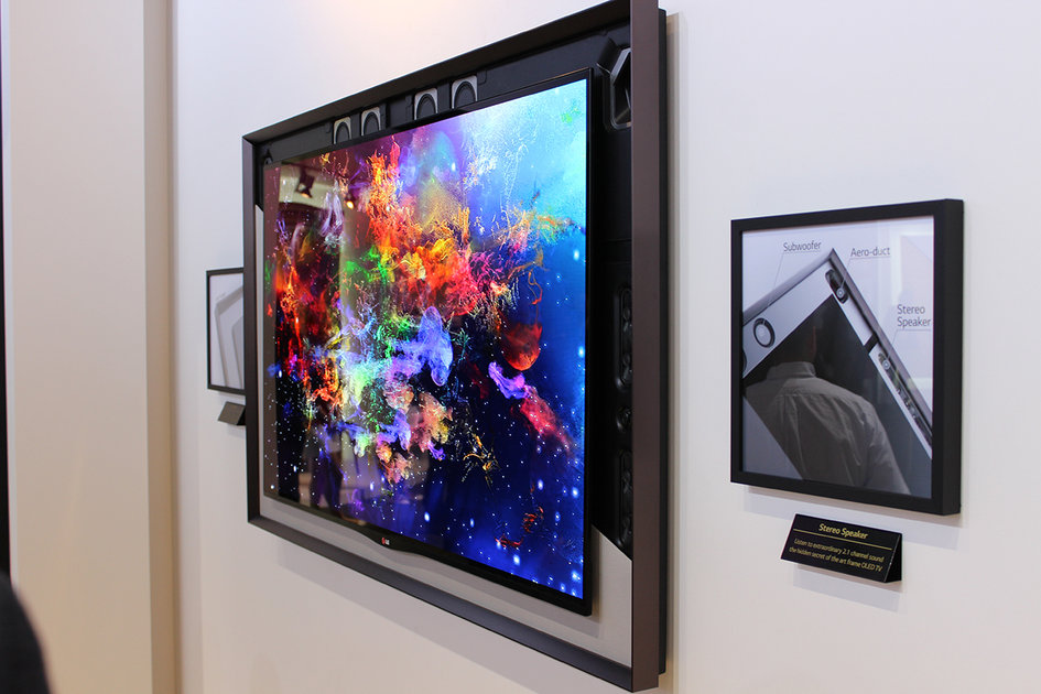 Lg 55 Inch Gallery Oled Tv Eyes On In The Classy Corner Of Ifa