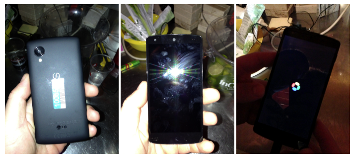LG Nexus 5 leaked from a bar, shows Android 4.4 KitKat boot screen - Pocket-lint