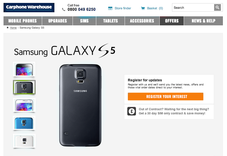 Samsung Galaxy S5 pre-registration already topped Galaxy S4 figures, says Carphone Warehouse - Pocket-lint