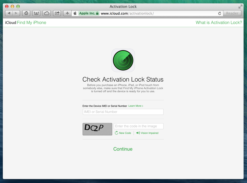 how to check iphone serial number in apple website