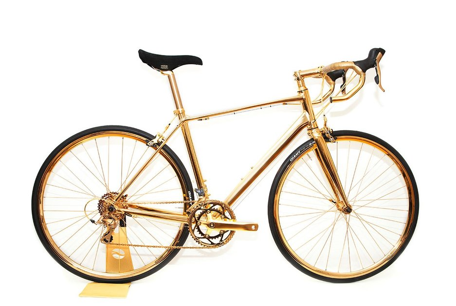 Behold the bicycle you will never ride: The £250K road bike covered in 24kt gold - Pocket-lint
