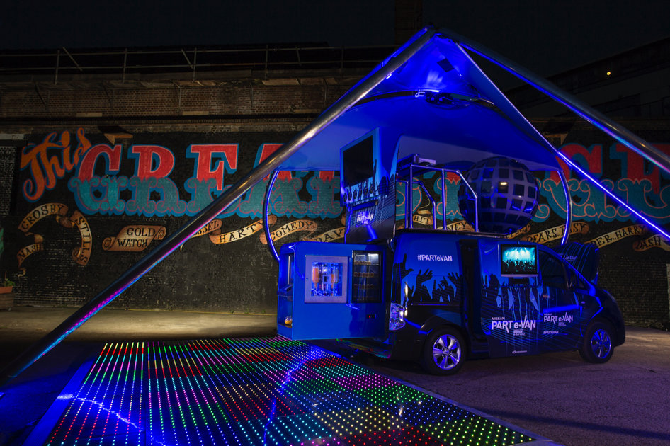 Party On Nissan Turns Electric E Nv200 Into A Dj Party