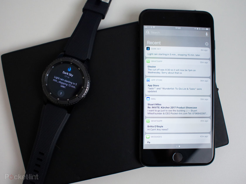 Samsung gear s3 and gear s2 now connect to iphone here 39 s how it works pocket lint - Samsung dive galaxy s3 ...