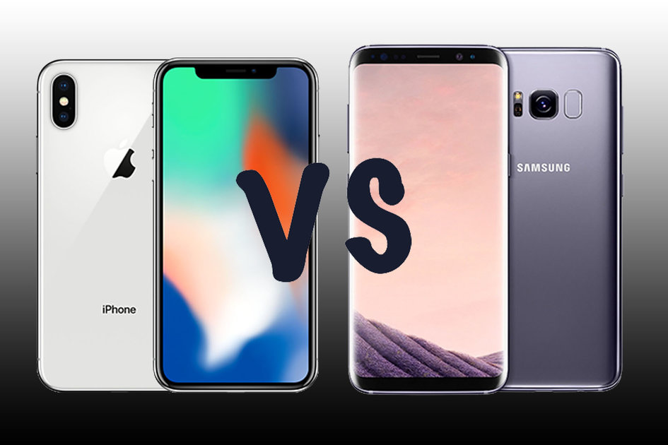 Apple Iphone X Vs Samsung Galaxy S8  Pistols At Dawn For
