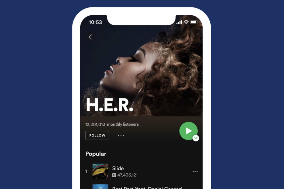 Spotify iOS redesign adds easy shuffle play and more