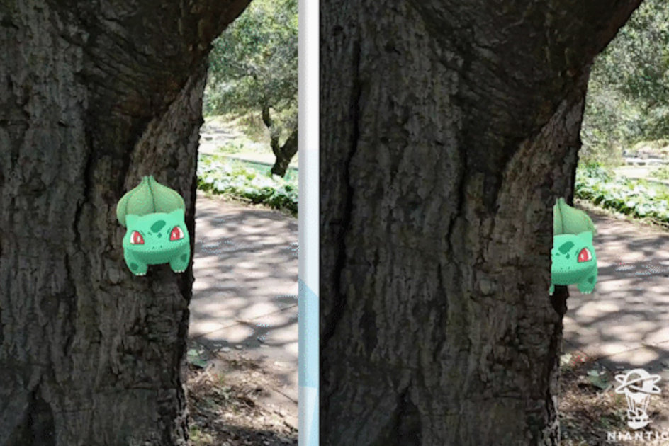 See how Pokemon Go's reality blending feature helps Pokemon to blend better