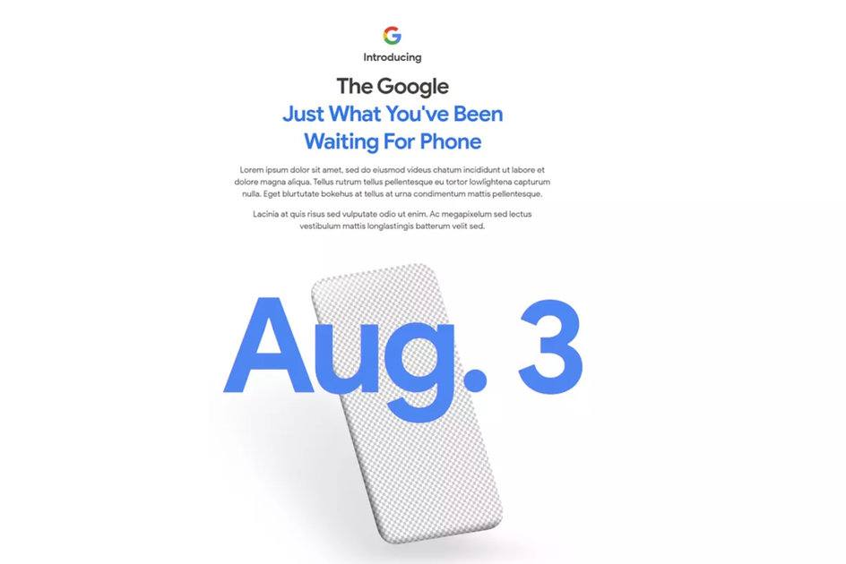 Google will finally announce the Pixel 4a on 3 August