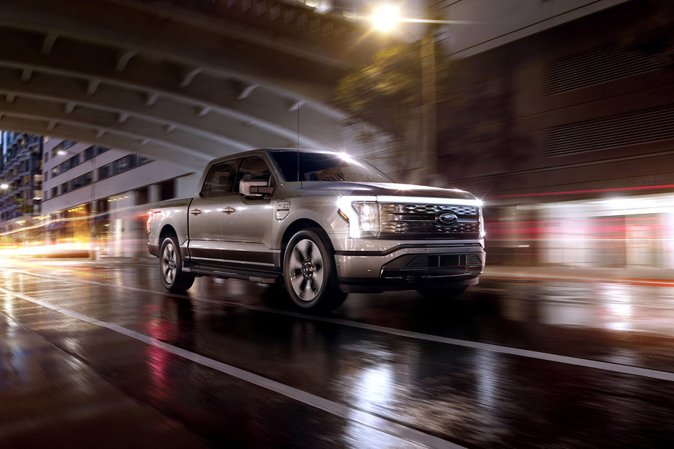 All-electric Ford F-150 Lightning pickup revealed at last