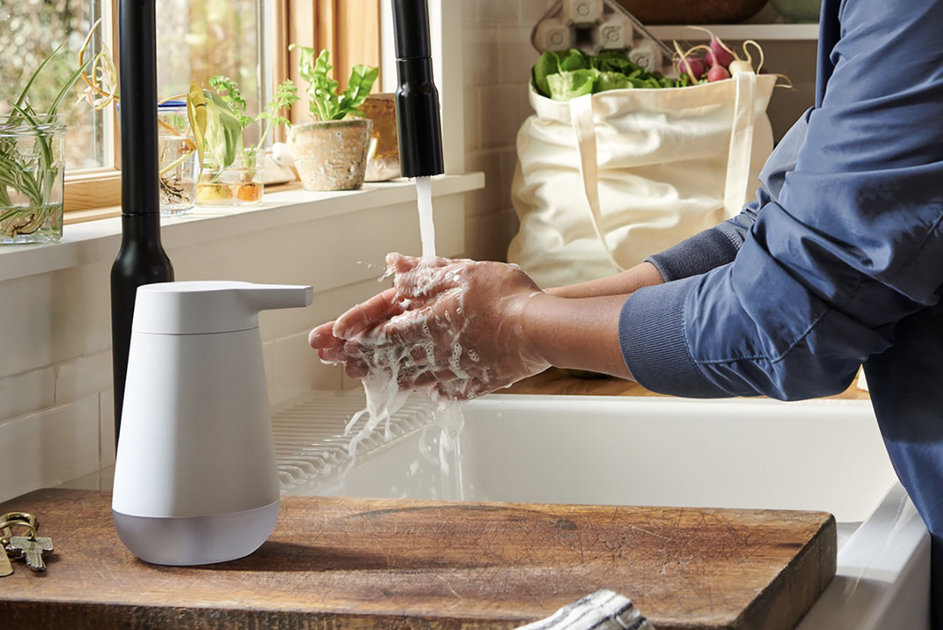 Amazon made an Alexa-enabled smart soap dispenser with a hand-washing timer