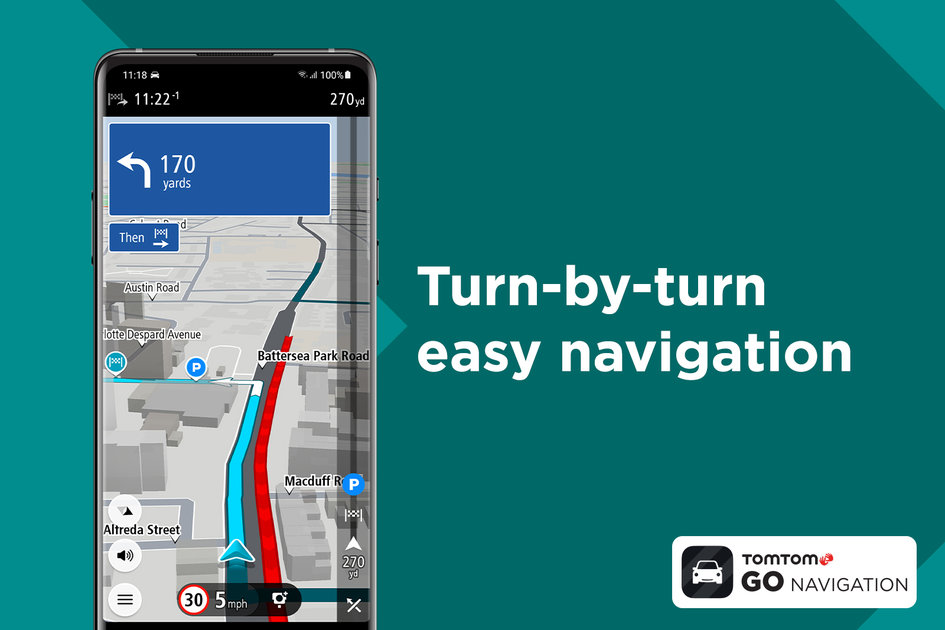 TomTom Go Navigation App is a premium mobile navigation app for all drivers, with a three-month free trial