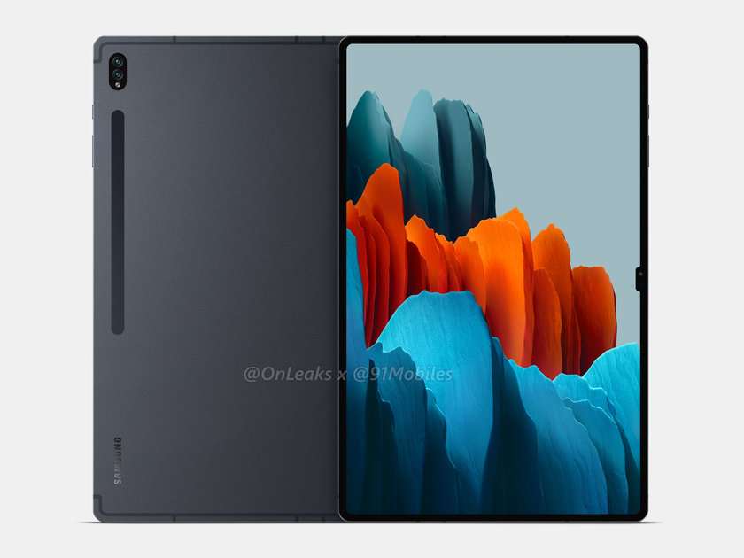 Samsung Galaxy Tab S8 Ultra renders show notched display