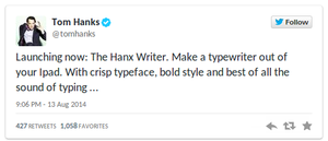 Typewriter collector and actor Tom Hanks releases typewriter app for iPad (Update) - photo 3