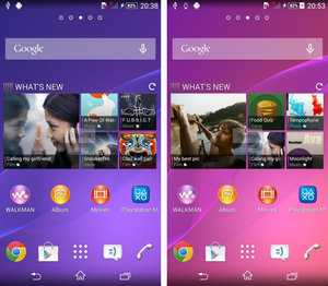 Sony Xperia Z2 user interface