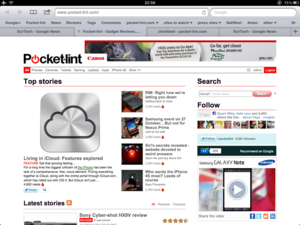 iOS 5 tabbed browsing for iPad