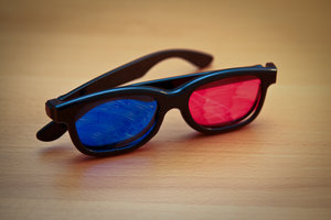 place new lenses in frames for the 3D glasses