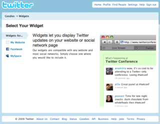 Twitter widgets brings Twitter to the rest of the Web