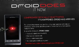 Droid by Motorola goes on sale in the States