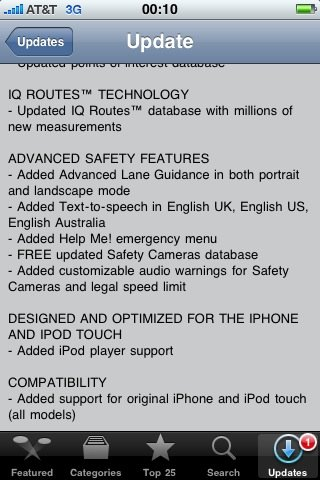 TomTom for iPhone updated
