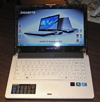 Gigabyte unveils the Booktop M1305 with graphics card-equipped dock