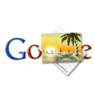 "Google doodles a ""Happy Holidays"""