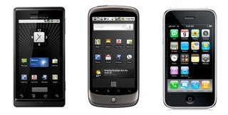 Nexus One vs Motorola Milestone vs iPhone 3GS