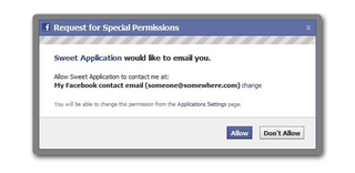 Facebook to allow apps to email you