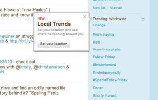 Twitter Trends going local