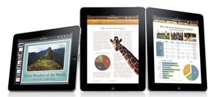 iWork software for the Apple iPad detailed