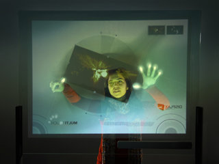 3-metre, 65-finger and blow touchscreen debuts