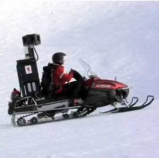 VIDEO: Google Street View commandeers a snowmobile