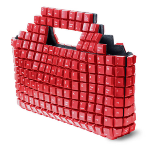 Artist creates keyboard handbag