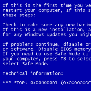 XP patch brings blue screen misery