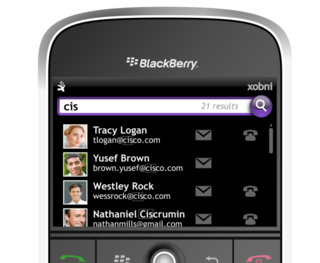 Xobni Mobile for BlackBerry hits BlackBerry App World store