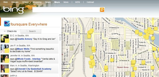 Bing adds Twitter, Foursquare and tabs