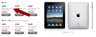 Apple pushes new iPad pre-orders back
