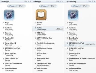 The top iPad apps of the opening weekend