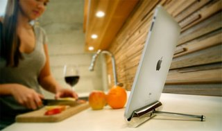The iPad stand that's perfect for the kitchen