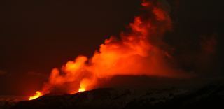 Volcano forces couple to marry over Skype