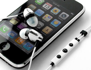 Klipsch in-ears all-white for iPhone