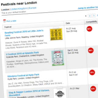 Last.fm adds festival recommendations