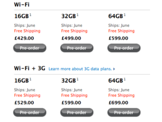 Apple iPad pre-order dates slip again