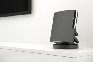 TwistDock for PS3 rotates and charges your console