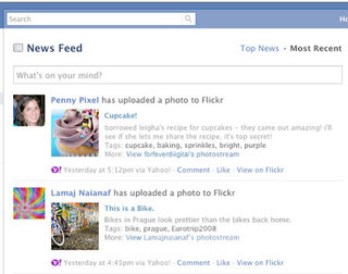 Flickr to make facebook feeds picturesque